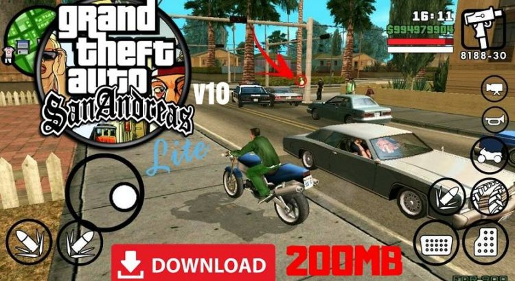 GTA SA Lite Apk Data Highly Compressed 200MB Download