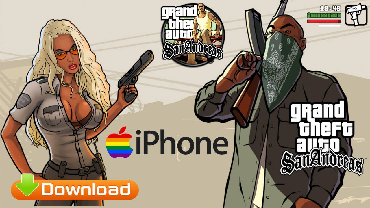 GTA SA Grand Theft Auto San Andreas for iPhone Free Download