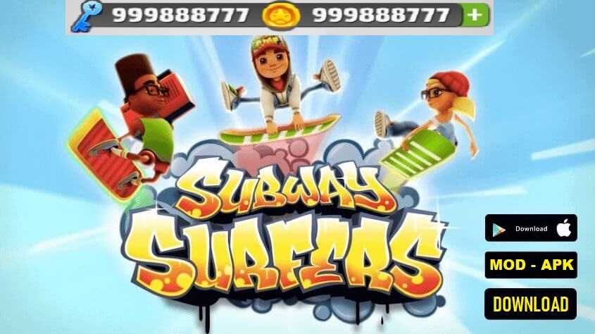 Download Subway Surfers MOD APK Unlimited Coins Keys