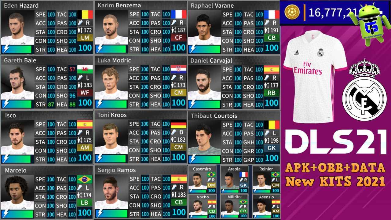 Download DLS 21 APK Mod Real Madrid 2021