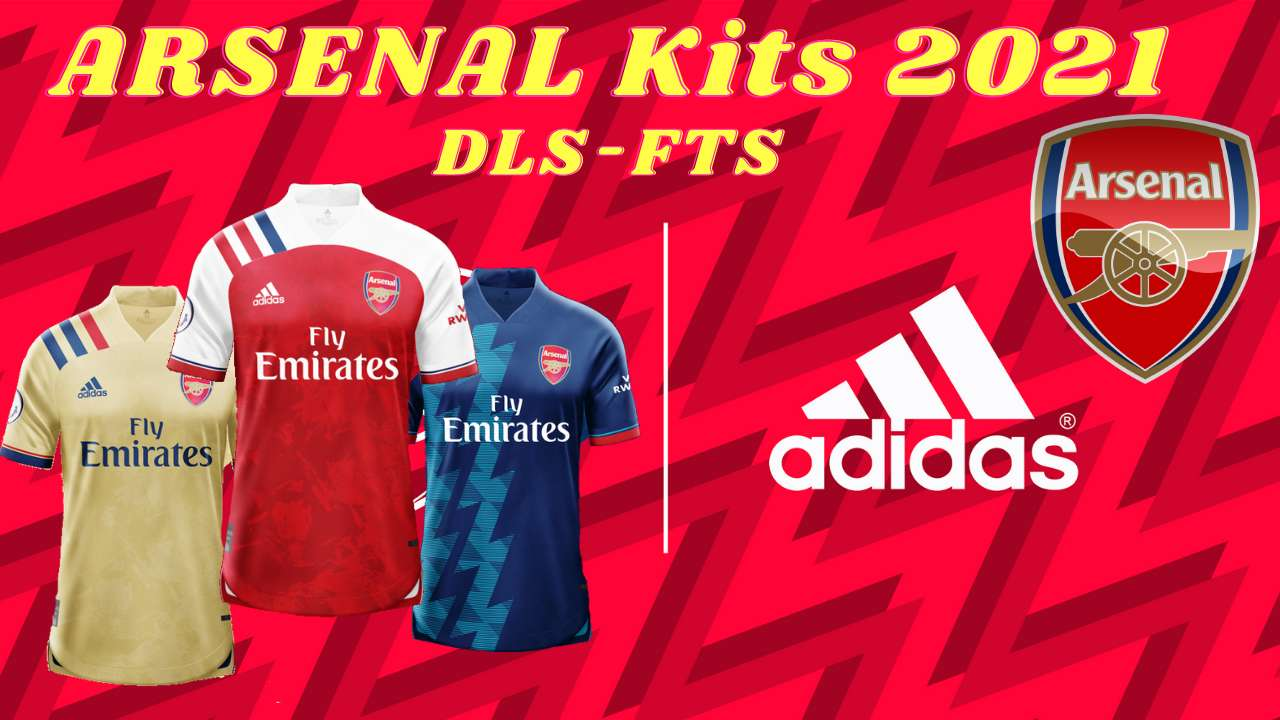 Arsenal New Kits 2021 for DLS 20 Logo FTS