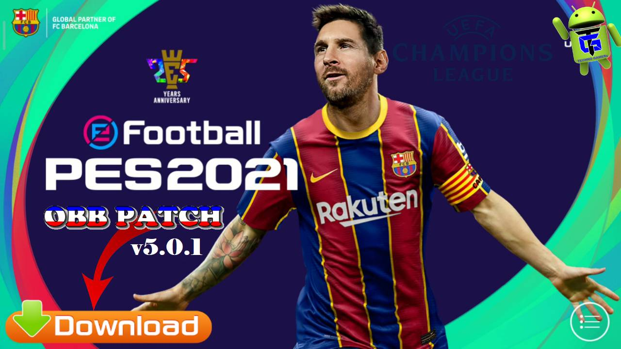Download PES 2021 Patch UCL v5.0.1 Android Full License