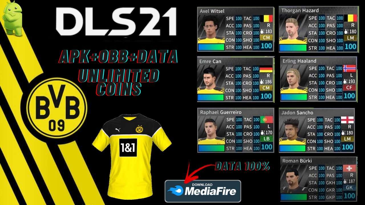 Download DLS 21 APK Borussia Dortmund Hack Profile Data