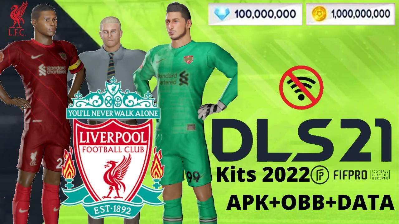DLS 21 APK Mod Liverpool Kits 2022 Download