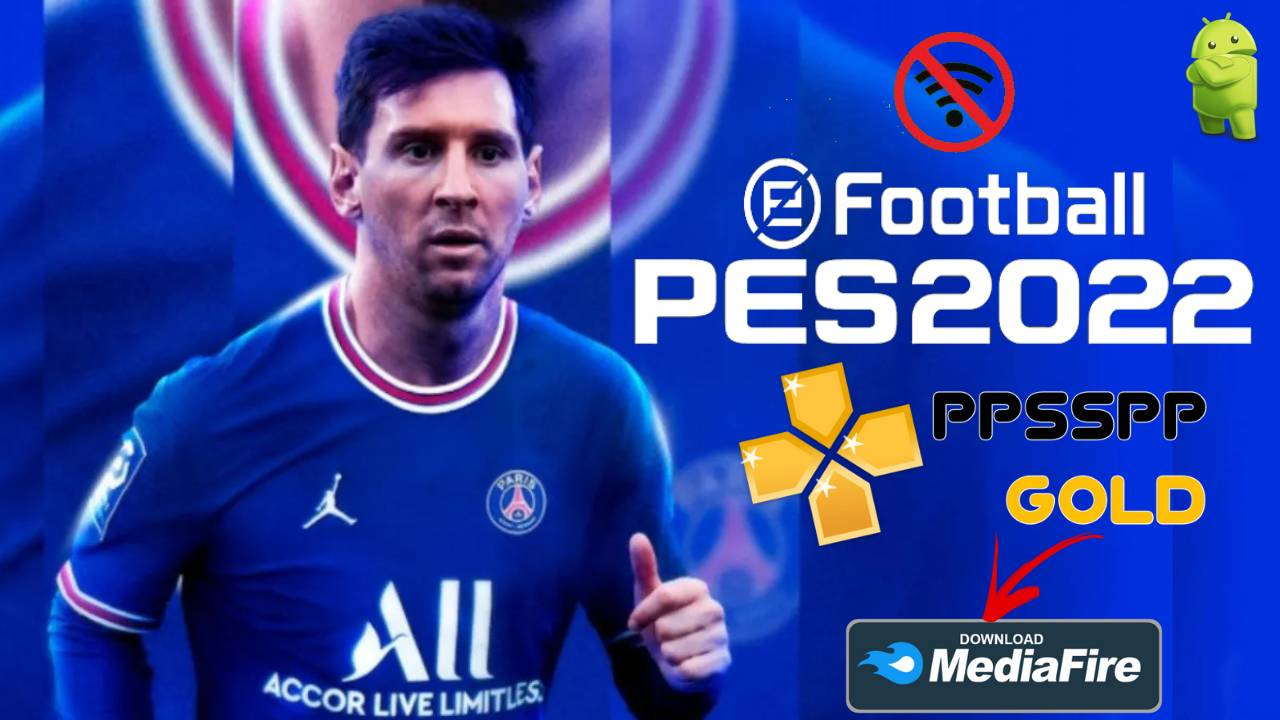 Download PES 2022 Offline PPSSPP Android Messi to PSG
